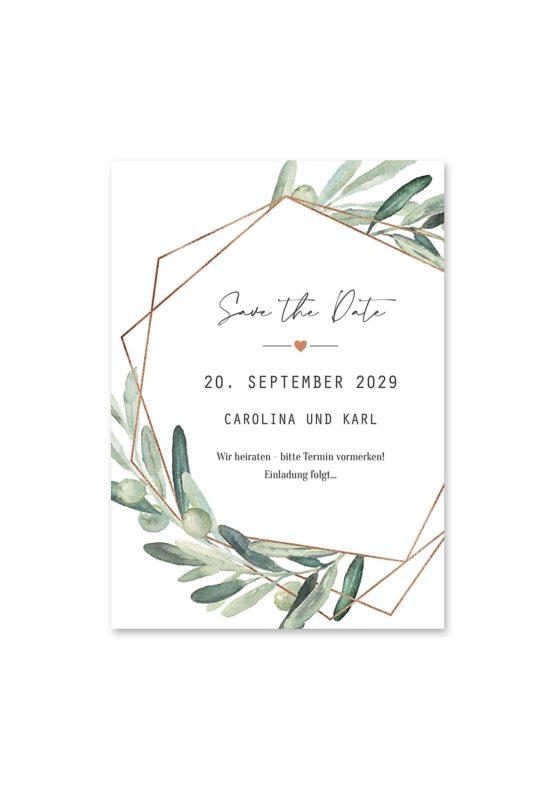 save the date vintage oliven toskana tuscany aquarell hochzeitsgrafik onlineshop papeterie