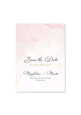 save the date vintage watercolor gold rosa aquarell hochzeitsgrafik onlineshop papeterie