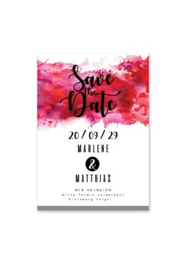 save the date vintage farbenfroh watercolor beere pink lila hochzeitsgrafik onlineshop papeterie