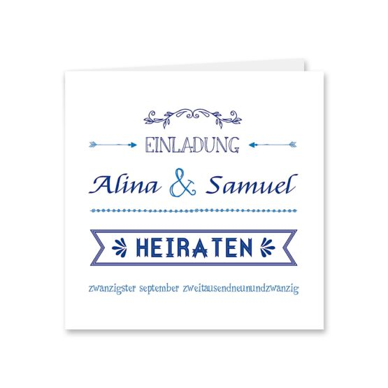 einladung ornamente vintage blau hochzeitsgrafik onlineshop papeterie