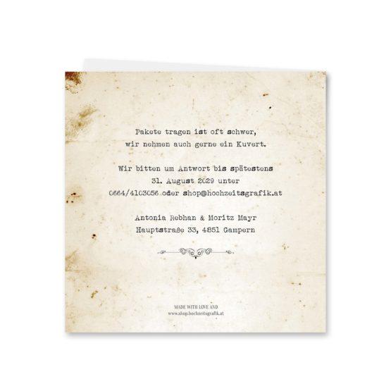 einladung vintage blumen spitze braun hochzeitsgrafik onlineshop papeterie