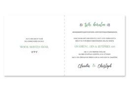 einladung vintage blumenkranz grün greenery watercolor hochzeitsgrafik onlineshop papeterie