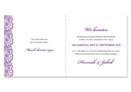 einladung vintage spitze bordüre flieder lila hochzeitsgrafik onlineshop papeterie