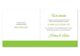 einladung vintage herz herzen doppelherz liebe grün hochzeitsgrafik onlineshop papeterie