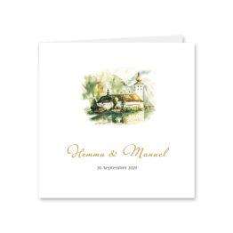 einladung vintage schloss orth ort gmunden malerei aquarell salzkammergut hochzeitsgrafik onlineshop papeterie