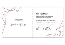 save the date elegant geometrie puristisch glitzer rose hochzeitsgrafik onlineshop papeterie