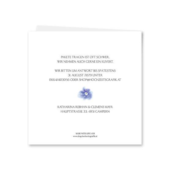 einladung vintage logo monogramm blumenkranz hortensien kirschblüten blau grün creme hochzeitsgrafik onlineshop papeterie