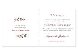 einladung vintage blumenkranz beere rosa rot herbst logo monogramm hochzeitsgrafik onlineshop papeterie