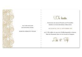 einladung vintage spitze bordüre braun hochzeitsgrafik onlineshop papeterie