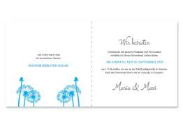 einladung pusteblume blume cyan blitzblau hochzeitsgrafik onlineshop papeterie
