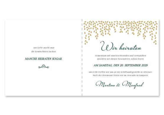einladung elegant gold fallende blätter herbst hochzeitsgrafik onlineshop papeterie