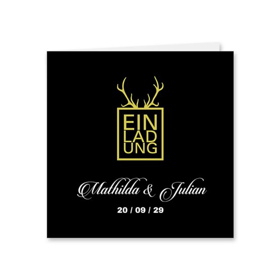 einladung elegant gold schwarz luster hochzeitsgrafik onlineshop papeterie
