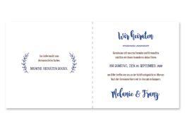 einladung vintage ornamente braun blau elemente hochzeitsgrafik onlineshop papeterie