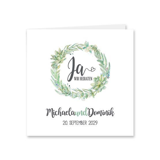 einladung vintage watercolor blumenkranz greenery eucalyptus sukkulenten aquarell acryl hochzeitsgrafik onlineshop papeterie