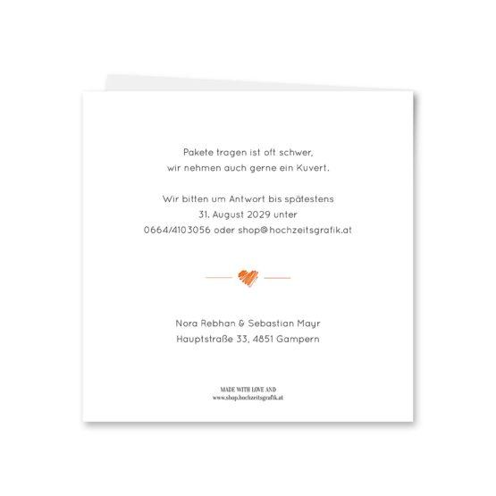 einladung vintage herz liebe orange hochzeitsgrafik onlineshop papeterie