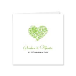 einladung elegant herz ornament grün stilvoll hochzeitsgrafik onlineshop papeterie