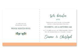 einladung vintage watercolor aquarell acryl blumenkranz eucalyptus lachs monogramm logo hochzeitsgrafik onlineshop papeterie
