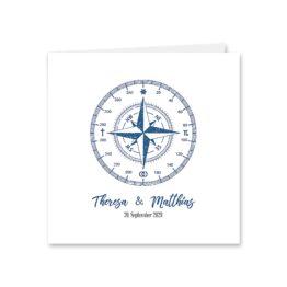 einladung vintage kompass reise reisen welt ziel nord süd ost west blau hochzeitsgrafik onlineshop papeterie