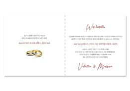 einladung elegant ornament rot ringe gold eheringe königlich kaiser hochzeitsgrafik onlineshop papeterie