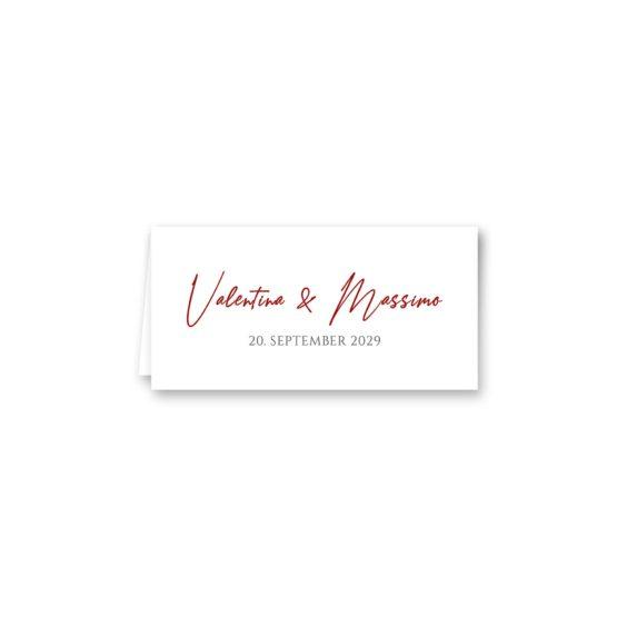 tischkarte klappkarte hochzeit elegant ornament rot ringe gold eheringe königlich kaiser hochzeitsgrafik onlineshop papeterie