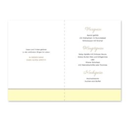 menükarte klappkarte hochzeit blumen vintage grau gold hochzeitsgrafik onlineshop papeterie