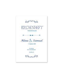 kirchenheft fächer hochzeit ornamente vintage blau hochzeitsgrafik onlineshop papeterie