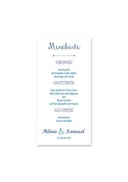 menükarte hochzeit ornamente vintage blau hochzeitsgrafik onlineshop papeterie