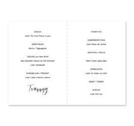 kirchenheft klappkarte hochzeit kalligrafie calligraphy lettering hochzeitsgrafik onlineshop papeterie