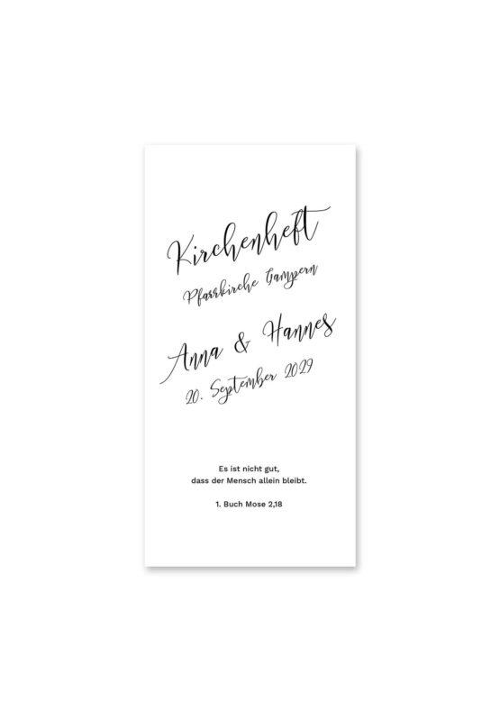 kirchenheft hochzeit kalligrafie calligraphy lettering hochzeitsgrafik onlineshop papeterie