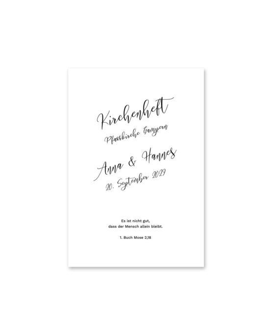 kirchenheft fächer hochzeit kalligrafie calligraphy lettering hochzeitsgrafik onlineshop papeterie
