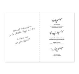 menükarte klappkarte hochzeit kalligrafie calligraphy lettering hochzeitsgrafik onlineshop papeterie