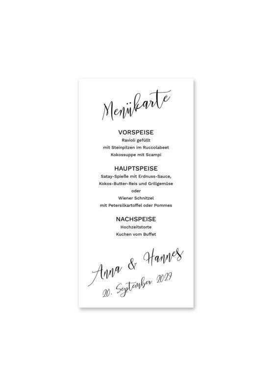 menükarte hochzeit kalligrafie calligraphy lettering hochzeitsgrafik onlineshop papeterie