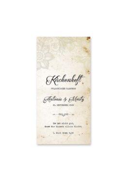 kirchenheft hochzeit vintage blumen spitze braun hochzeitsgrafik onlineshop papeterie
