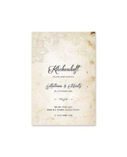kirchenheft fächer hochzeit vintage blumen spitze braun hochzeitsgrafik onlineshop papeterie