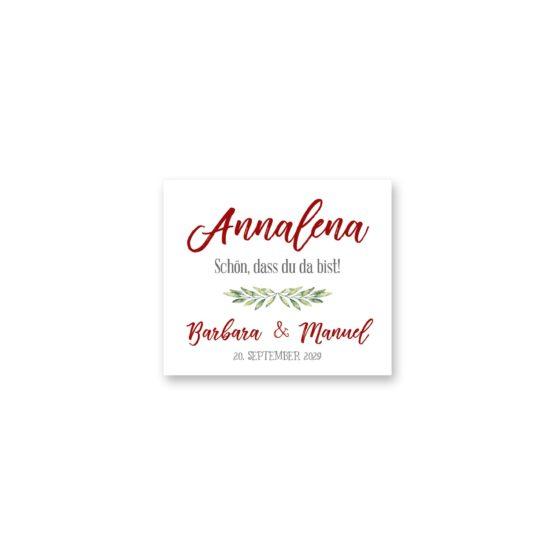 tischkarte hochzeit vintage blumenkranz rot grün hochzeitsgrafik onlineshop papeterie