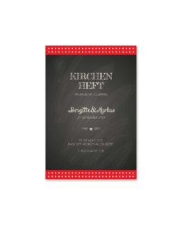 kirchenheft fächer hochzeit rockabilly rot schwarz weiß polka dots hochzeitsgrafik onlineshop papeterie