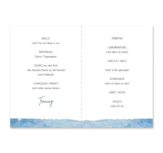 kirchenheft klappkarte hochzeit vintage landschaft aquarell winter blau rosa grau hochzeitsgrafik onlineshop papeterie