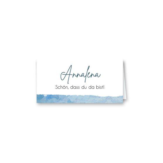 tischkarte klappkarte hochzeit vintage landschaft aquarell winter blau rosa grau hochzeitsgrafik onlineshop papeterie