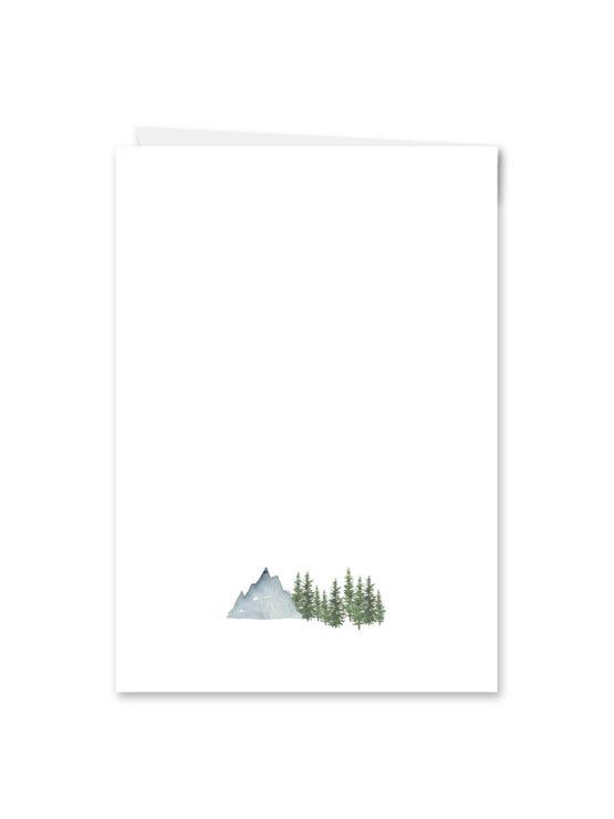 kirchenheft klappkarte hochzeit vintage landschaft berg berge baum bäume aquarell hochzeitsgrafik onlineshop papeterie