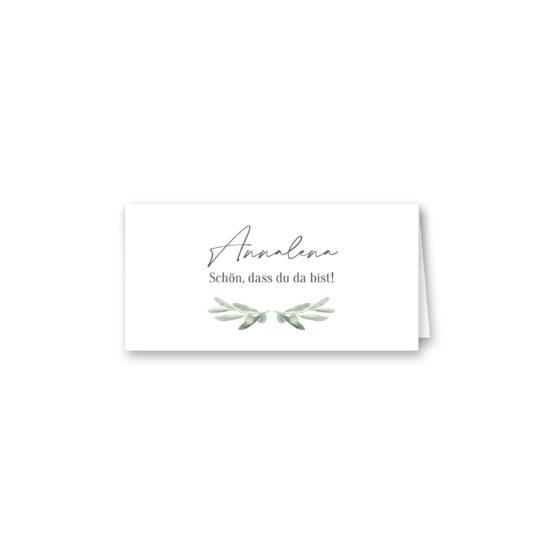 tischkarte klappkarte hochzeit vintage oliven toskana tuscany aquarell hochzeitsgrafik onlineshop papeterie