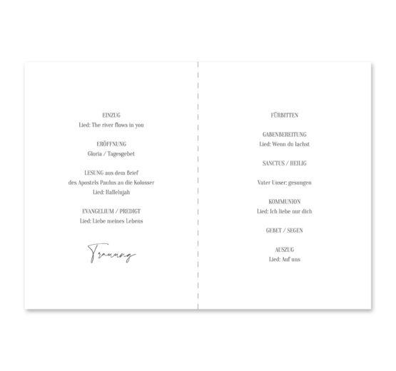 kirchenheft klappkarte hochzeit vintage blumen logo monogram handdrawn malerei hochzeitsgrafik onlineshop papeterie