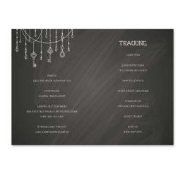 kirchenheft klappkarte hochzeit vintage schlüssel chalkboard schwarz weiß skelett lichterketten luster hochzeitsgrafik onlineshop papeterie