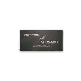 tischkarte klappkarte hochzeit vintage schlüssel chalkboard schwarz weiß skelett lichterketten luster hochzeitsgrafik onlineshop papeterie