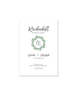 kirchenheft fächer hochzeit vintage blumenkranz grün greenery watercolor hochzeitsgrafik onlineshop papeterie