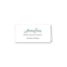 tischkarte klappkarte hochzeit vintage blumenkranz grün greenery watercolor hochzeitsgrafik onlineshop papeterie