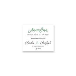 tischkarte hochzeit vintage blumenkranz grün greenery watercolor hochzeitsgrafik onlineshop papeterie