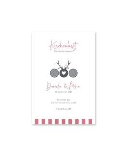 kirchenheft fächer hochzeit vintage tracht hirsch rosa grau hochzeitsgrafik onlineshop papeterie