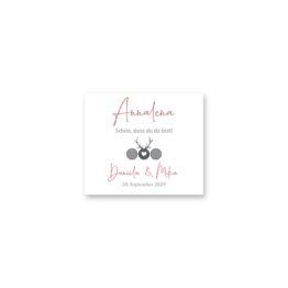 tischkarte hochzeit vintage tracht hirsch rosa grau hochzeitsgrafik onlineshop papeterie