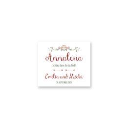 tischkarte hochzeit vintage ornament pfeil rot grün hochzeitsgrafik onlineshop papeterie