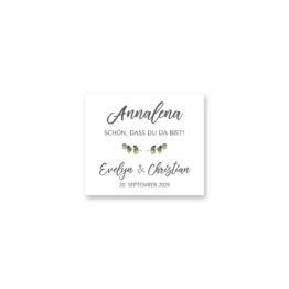 tischkarte hochzeit vintage blumen kranz greenery grün eucalyptus hochzeitsgrafik onlineshop papeterie